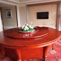 广东热门的 电动餐桌 新中式实木电动桌 餐椅 酒店电动圆桌