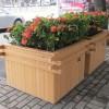 银川铁艺花架定做-超值的塑木花箱直销