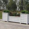 西安户外铝合金仿木纹花箱生产厂家 供应各种规格郑州木塑花箱