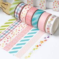 来图定制小清新风格线条、花纹、圆点简约图案DIY素材和纸胶带