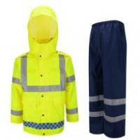 交警反光雨衣,交警分体式反光雨衣,交警反光执勤雨衣