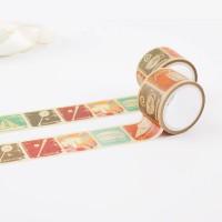 来图定制复古风格旅行邮戳手工DIY素材和纸胶带