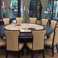 工厂定制 电动转盘餐桌 大理石电动餐桌 餐椅 实木电动餐桌