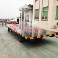 8吨平板车 无动力牵引工业平板全挂车