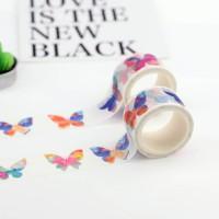 来图定制百变美丽花蝴蝶系列手帐胶带