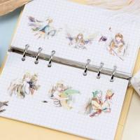 来图定制天使之祈、梦幻神话翅膀男孩系列手帐胶带