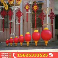 春节亮化灯杆装饰中国结红灯笼