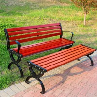 户外休闲排椅 木质公园座椅 批发定制