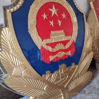 铝合金材质公安局警徽制作,定制机关单位徽章