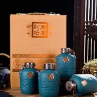 酒瓶陶瓷家用自酿酒瓶 空瓶5斤装酒坛子好看的白酒具仿古瓷酒瓶