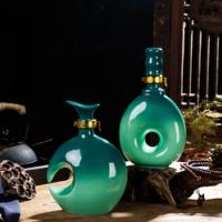 景德镇创意酒瓶 空酒瓶定制 家用仿古密封陶瓷瓶 一斤装饰酒瓶