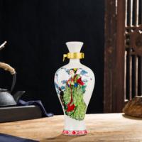 1斤装四大美女古典陶瓷梅瓶小酒壶密封空酒具一斤装酒柜摆件