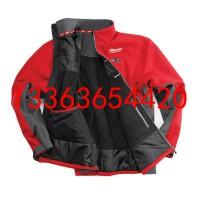 智能温控自动加热冲锋衣M12HJ-21C充电式红色加热夹克衫