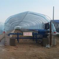 养猪场粪便无害化处理设备—发酵床翻耙机尺寸定制
