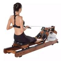专业厂家 可定制木质款水阻划船机 健身房液阻划船器健身