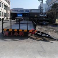 13米平板拖车 液压刹车护栏平板拖车