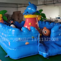 广州充气生日派对城堡租赁充气新款儿童城堡蹦床充气蛋糕城堡