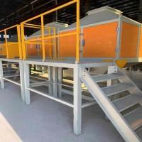 移动伸缩喷漆房 催化燃烧 整套废气处理设备