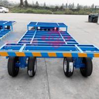 3T骨架低平板凹凸板面平板拖车