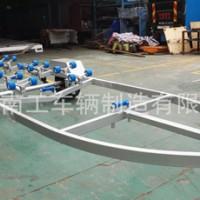 28尺热镀锌牵引式滚轮玻璃钢艇摩托艇拖车