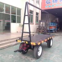 2T小型双项牵引平板拖车