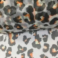 厂家直销 豹纹PP印花无纺布一次性水刺口罩面料