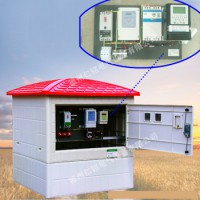 机井智能灌溉控制柜 模压玻璃钢井房 钢制井房