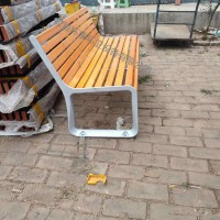 定制批发 防腐木排椅 户外休闲座椅 等候椅 现货供应