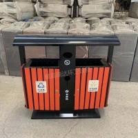 供应瑞达塑木果皮箱 木条分类垃圾桶 可定制