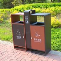 定制销售 户外果皮箱 双桶分类垃圾箱