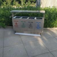 供应瑞达环卫不锈钢四分类垃圾箱