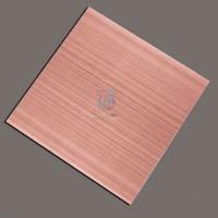 厂家定制彩色不锈钢拉丝板/304不锈钢装饰板