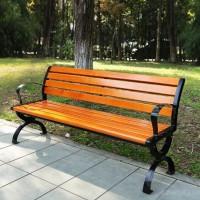 批发定制户外公园小区实木休闲座椅 防淋防晒不易褪色