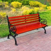 供应瑞达户外公园椅 实木花边座椅 美观耐用不易变形