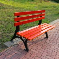 路边等候椅 木质七条座椅 休闲长椅 定制批发