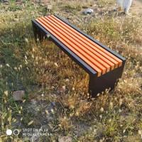 公园长凳 实木休闲平凳 铸铝长条凳 现货供应