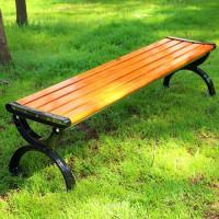 路边休息平凳 木质长条凳 防淋防晒不易褪色