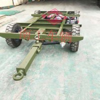 1.5吨电动手动平板拖车底盘