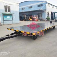 5吨双牵引平板车 叉车牵引工具全挂拖车