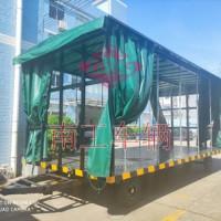 15吨雨篷双牵引平板拖车篷式工具周转拖车