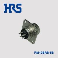 RM12BRB-5S日本广濑RM系列5针银色圆形插座