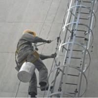 南阳120米烟囱爬梯、平台维护刷漆