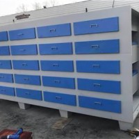 4S店喷漆房废气处理环保设备安装现场活性炭设备