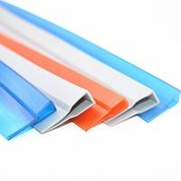 供应磁吸门帘银灰色包边条 U型软PVC包边条