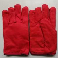 防油防水防滑棉手套 防油拒水帆布手套  防油防水滴塑帆布手套