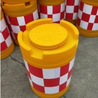 防撞桶水马圆柱型吹滚塑800加厚反光塑料注水反光膜