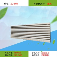 360*120防尘散热长条形百叶窗 通风过滤网组ZL808