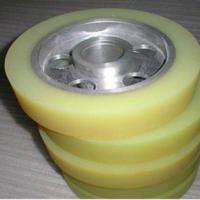 供应工矿聚氨酯包胶轮 环保耐磨聚氨酯包胶轮