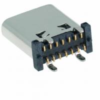 TYPEC立贴母座14P180度立式贴片L9.3 10.5