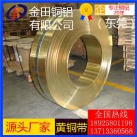 长期供应h90黄铜带/h68耐腐蚀黄铜带,h65超薄黄铜带